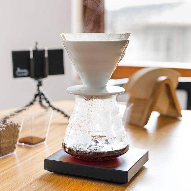 Assortiment met koffiezetapparaat