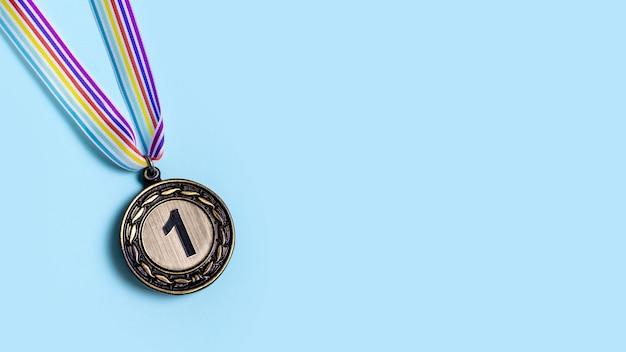 Assortiment olympische medaille op de eerste plaats