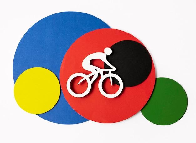 Assortiment olympische vormen in papieren stijl