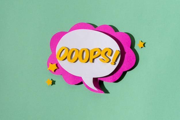 Assortiment platte tekstballonnen voor strips