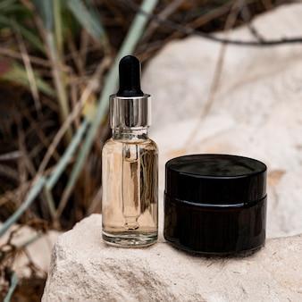 Assortiment schoonheidsproducten voor de huid