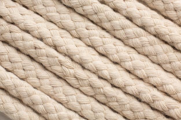 Assortiment touwtextuur bovenaanzicht