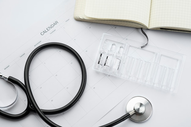 Assortiment vaccinatie-elementen voor covid19