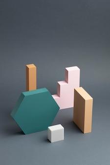 Assortiment van abstracte 3d-ontwerpelementen