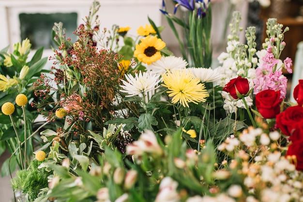 Assortiment van bloemenwinkel