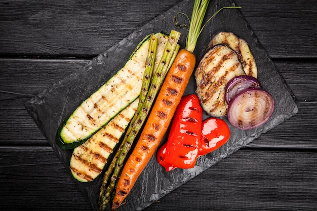 Assortiment van gegrilde groenten