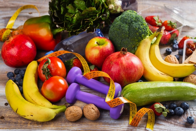 Assortiment van gezonde groenten en fruit