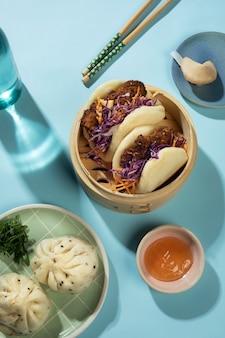 Assortiment van heerlijk aziatisch eten