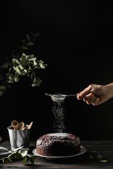 Assortiment van heerlijke chocoladetaart