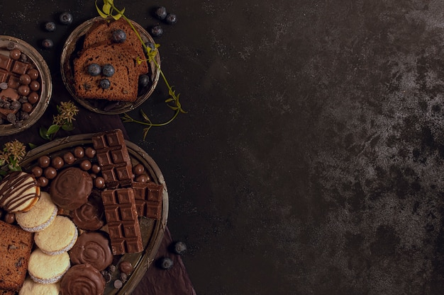 Assortiment van heerlijke soorten chocolade