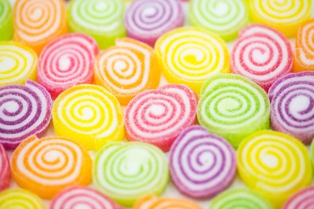 Assortiment van kleurrijke fruitsnoepjes