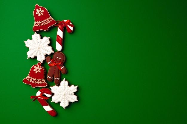 Assortiment van peperkoek kerstkoekjes