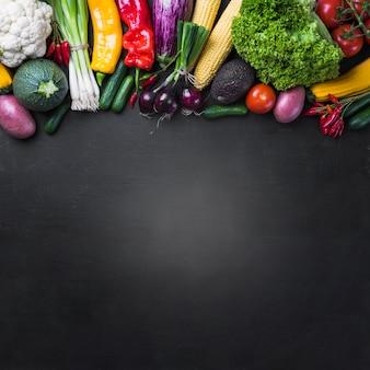 Assortiment van rijpe groenten