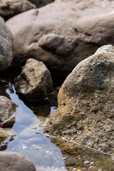 Assortiment van ruwe steentextuur