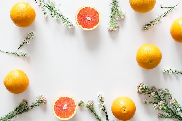 Assortiment van tropische citrusvruchten achtergrond
