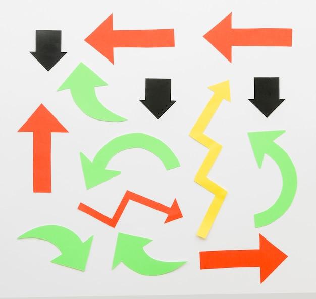 Assortiment van verschillende pijlen