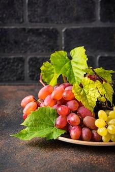Assortiment van verschillende soorten druiven