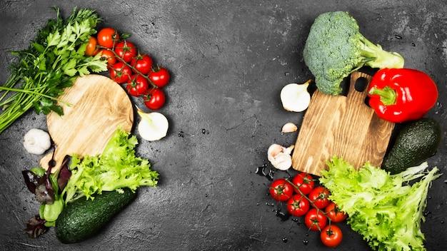 Assortiment van verse groenten
