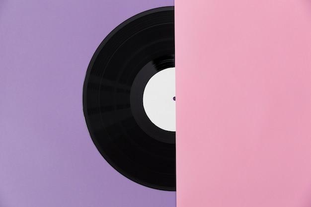 Assortiment vinylplaten bovenaanzicht