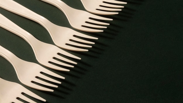 Assortiment vorken met hoge hoek