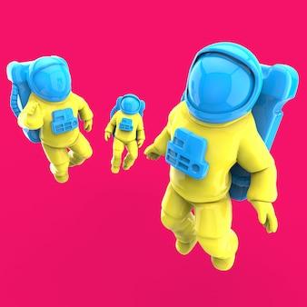 Astronaut in de ruimte - 3d illustratie
