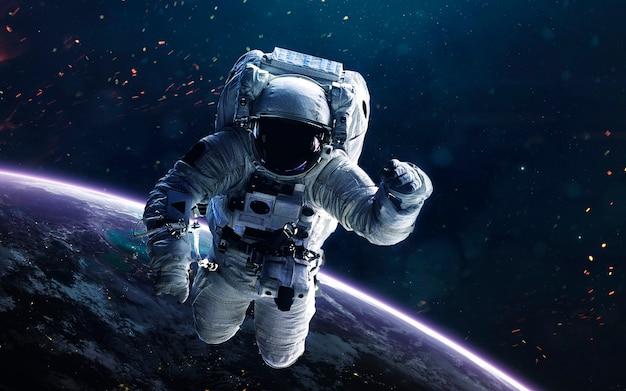 Astronaut. in de ruimte