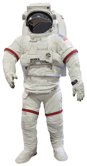 Astronauten geïsoleerd op wit