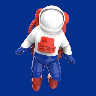 Astronautenconcept - 3d illustratie