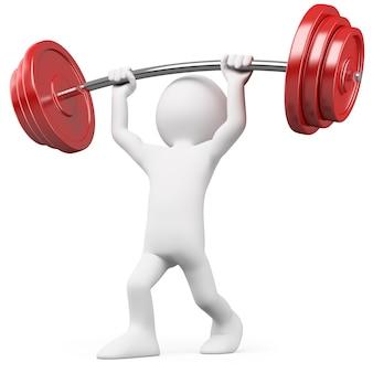 Atleet tillen gewichten