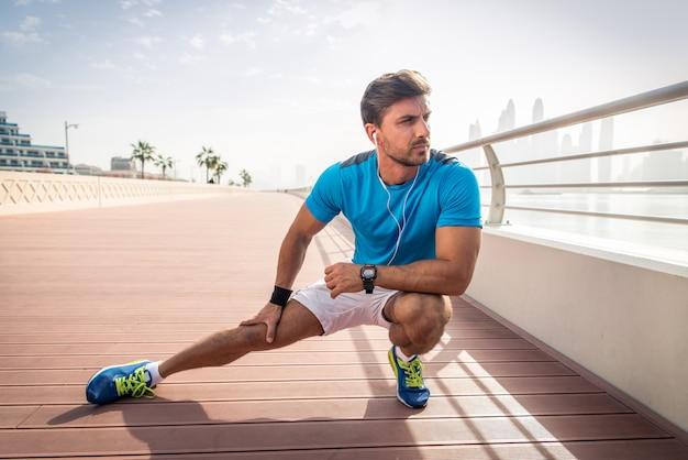Atleet training buitenshuis
