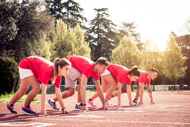 Atleten trainen