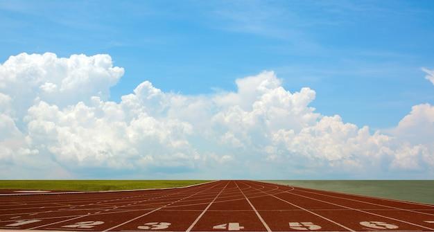 Atletiekbaan voor atleten, atletiekbaan of atletiekbaan