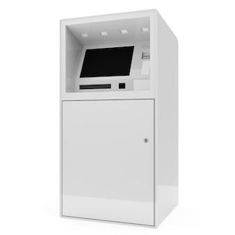 Atm-machine geïsoleerd op wit