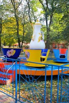 Attractie voor kinderen in het stadspark