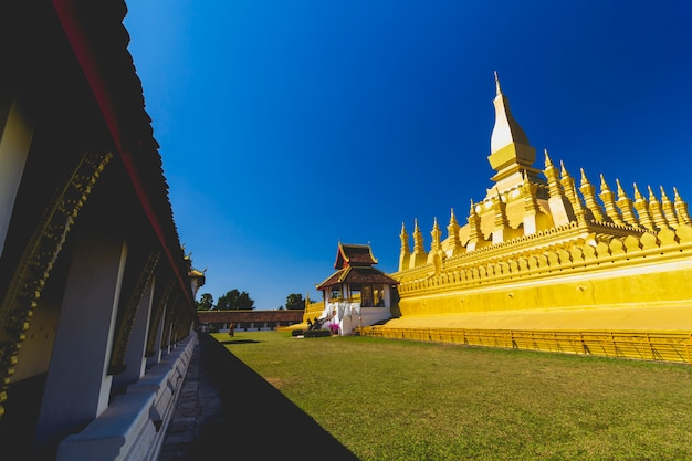 Attracties wat phra that phra nakhon, wiang chan, lao pdr