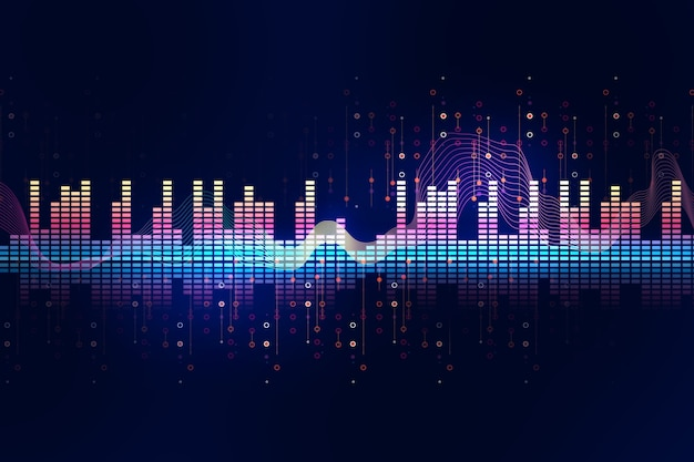 Audio golfvorm abstracte technische achtergrond