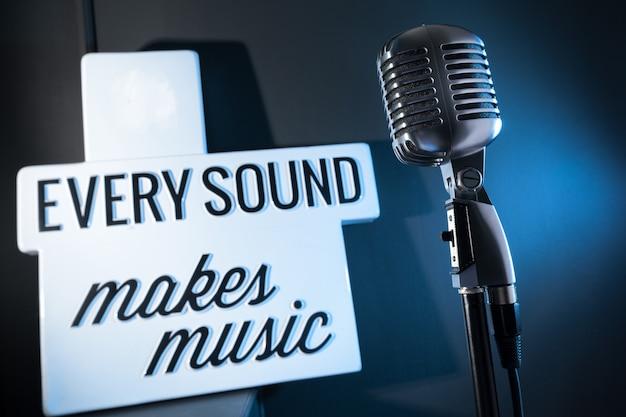 Audio microfoon retro-stijl