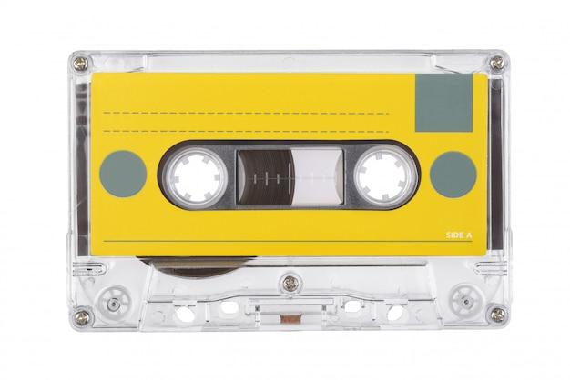 Audio tape compact cassette geïsoleerd