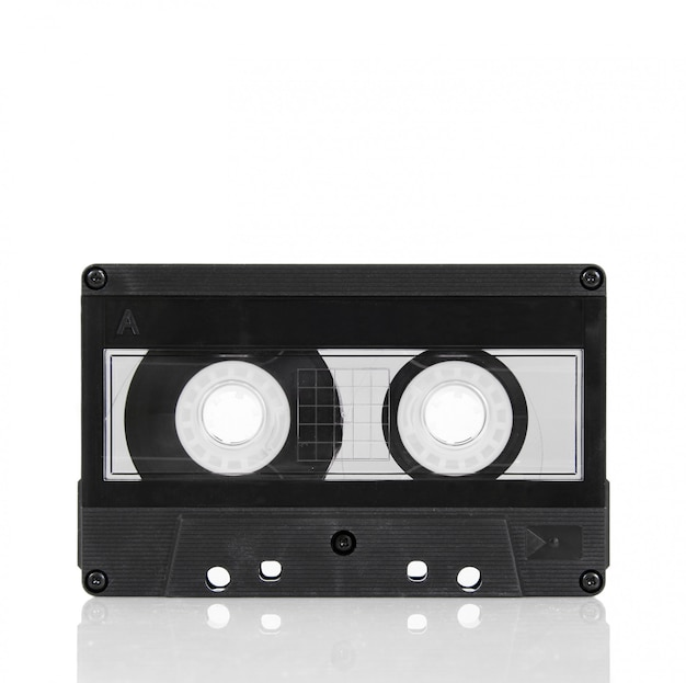 Audiocassetteband op wit