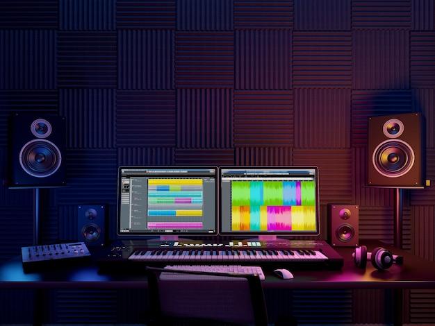Audiowerkplaats, opnamestudio Premium Foto