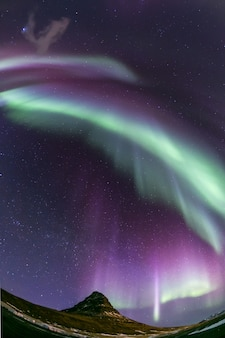 Aurora borealis ijsland