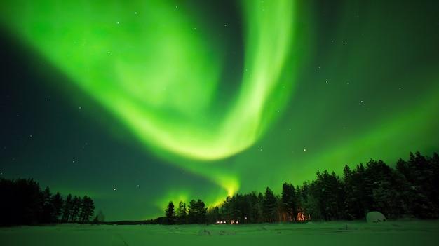 Aurora borealis noorderlichtnacht