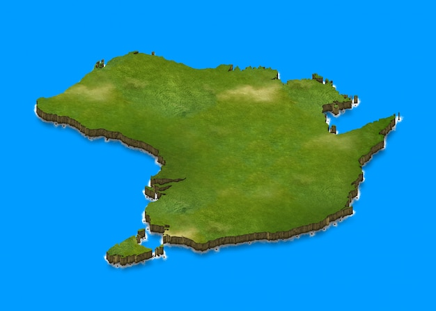 Australië kaart 3d