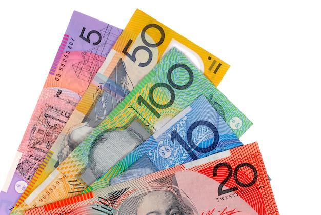 Australische dollarbiljetten