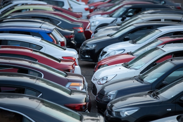Auto bioscoop parkeerplaats vol met auto's mãƒâ © xico stadsverkeer