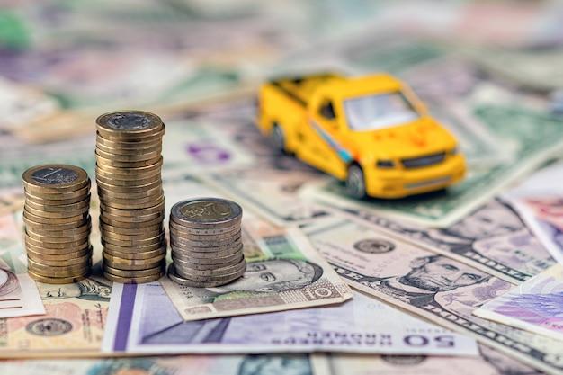 Auto en geld concept