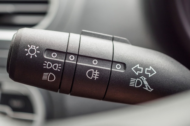 Auto lichtschakelaar close-up