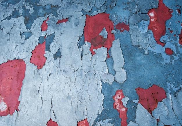 Auto patch breuk blauw rood verval getextureerde achtergrond