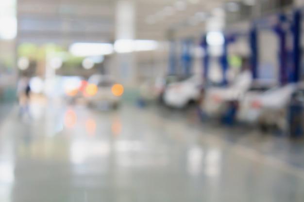 Auto reparatie servicecentrum wazig achtergrond