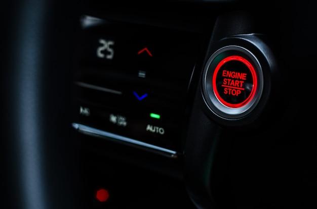 Auto start en stop motor knop.